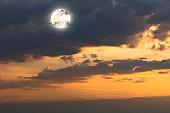 twilight on halloween background