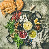 Mediterranean meze starter platter