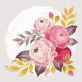 Vector illustration of a beautiful floral frame in spring.