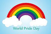 World Pride Day Rainbow