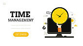 Time management.  Landing page template.