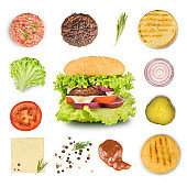 Ingredient for cooking burger and hamburger