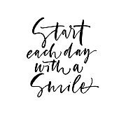 Start each day with a smile card.