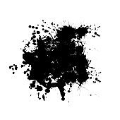 grunge dirty ink splatter splash black monochrome rough texture wallpaper concept illustration