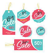 Big Sale Tags, Stickers