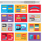 Infographic elements arrows,signs,bars, buttons,borders etc.