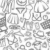 Fashion online shop seamless pattern