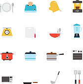 Kitchen utensils and cookware icon