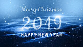 Merry Christmas and Happy New Year 2019. Best for new year event, for greetings card, flyers, invitation, posters, brochure, banners