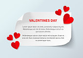 Valentines day banner vector template