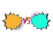 Versus letters fight backgrounds comics style design. Vector illustration