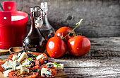 Greek salad, vegetable salads, vegetarian food, healthy dieting concept