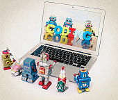 A team of robot toys learn coding