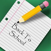 Back to school creative background. with pencil and paper