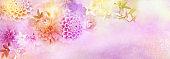 romance flower dahlia,roses border for header background for valentine's day