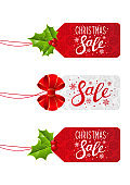 Set of Christmas sale tags for Your design