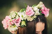 Floral Arrangement on Head