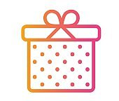 isolated colorful gradient holiday gift box icon