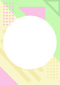 Simple solid and pastel color geometric pattern background