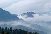 Mountains scenery in Pieniny
