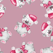 Seamless pattern with Teddy Bear 2
