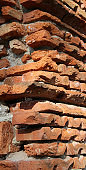 detail of a wall made with bricks