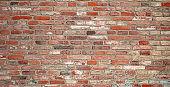 ancient wall of red bricks