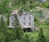 ancient mountain hotel destroyed due to weather