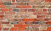 wall made with many red bricks