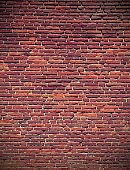 red bricks of an old wall with vintage effect