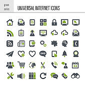 Universal internet icon set