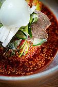 Korean spicy cold noodle
