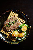 Tteok galbi with abalone