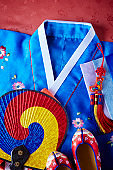 Traditional Korean costume with shoes