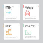 Data Organization and Management Infographic Design Template