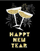 New Years 2019 greeting card
