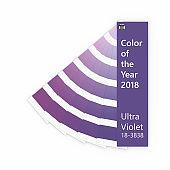 3d render of ultraviolet color palette guide