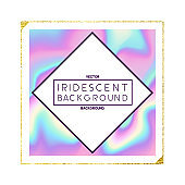 Iridescent Holographic Frame Design