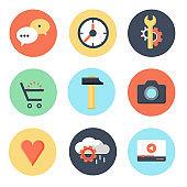 Search Engine Optimization internet marketing icons