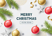 Festive Christmas Background Design