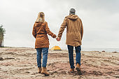 couple looking at camping tent