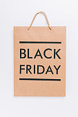shopping bag with black friday lettering