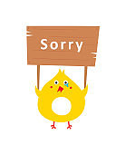 cute chicken sorry card