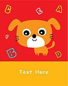 cute nursery puppy dog greeting card
