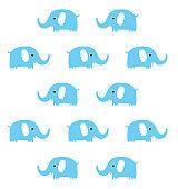 cute blue elephant wallpaper