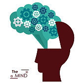 the mind silhouette head brain gears success