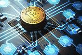 Blue circuit board, a processor, bitcoin network