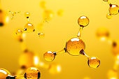 Transparent molecule on yellow