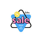 Discount tag with special offer sale sticker.