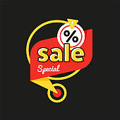 Special offer sale tag discount symbol